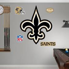 fathead new orleans saints logo wall decals 16417676 overstock new