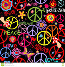 Wallpaper With Flowers Hippie Wallpaper With Flowers Print Stock Vector Image 70982060