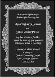 formal florentine frame halloween wedding invitations