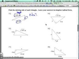 5 7 multi step pythagorean theorem assignment youtube