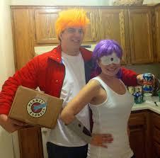 fry and leela halloween couples costume idea bigdiyideas com