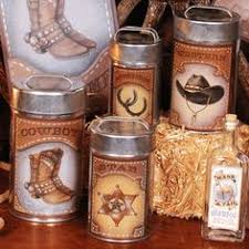 western kitchen canisters rancher themed kitchenware cowboy country