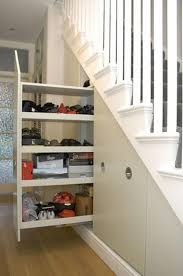 Under Desk Pull Out Drawer 20 Clever Basement Storage Ideas Stair Storage Under Stairs And