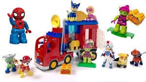 paw patrol spiderman duplo lego blocks truck adventure