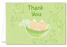 two peas in a pod baby shower baby shower thank you cards two peas in a pod caucasian