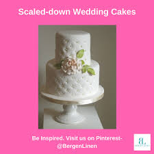 small wedding cakes bergen linen small wedding cakes try something different