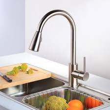 kitchen faucet singlelever luxury faucet with movable spout remer stainless steel brass kitchen faucet wallmount tan luxury kitchen focus for solid metal kitchen faucets