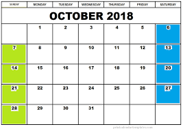 printable calendar template october 2018 calendar printable template site provides calendar