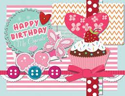 happy birthday scrapbook card in vector u2014 stock vector pixejoo