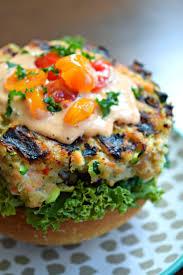 grilled salmon zucchini quinoa burgersthefitfork com