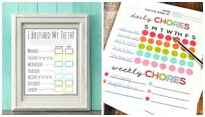 10 creative chore charts printables for kids somewhat simple