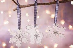 tree ornaments with blue lights stock image image of