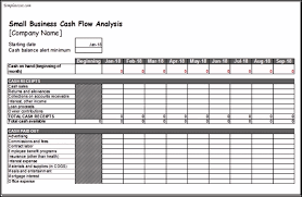 sample small business cash flow analysis worksheet template excel