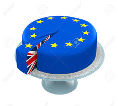 Great Britain Flag Great Britain Flag As Piece Of European Union Cake Stock Photo