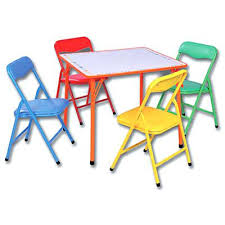 Folding Childrens Table And Chairs Awesome Fold Away Childrens Table And Chair Table And Chairs