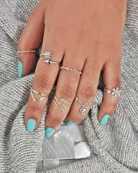 silver rings set images 925 sterling silver rings set 7 stackable rings sivalya jpg