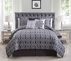 Purple And Gray Comforter 7 Piece Minka Gray Purple Reversible Comforter Set