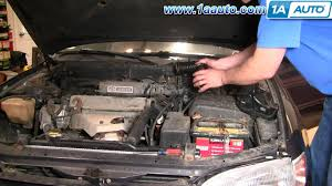 how to install replace engine air intake hose toyota camry 2 2l 95