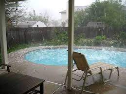 Backyard Pool Pictures Hail Storm Backyard Pool Youtube