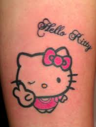 hello kitty cartoon tattoo design real photo pictures images