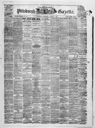 Shoo Qiara weekly gazette from pittsburgh pennsylvania on october 5 1867 盞 page 1