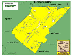 Tennessee Map Of Counties by Bledsoe County Tennessee Century Farms
