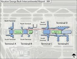 map houston airports houston intercontinental iah airport terminal map