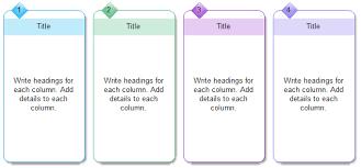 Four Column Chart Template by Four Column Chart Templates