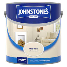 johnstone u0027s vinyl matt emulsion magnolia 2 5l wall paint