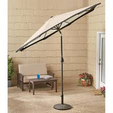 Castlecreek Patio Furniture castlecreek 9 u0027 two tone deluxe market patio umbrella khaki
