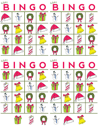 printable christmas bingo cards pictures holiday bingo game say yes