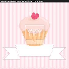 Cherry Cupcake Invitation Card Royalty Restaurant Vector Menu Wedding Card List Or Baby Shower