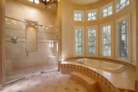 Master Bathroom Shower Ideas Rectangle White Porcelain Bathtub Grey Mosaic Tiles Black Wrought