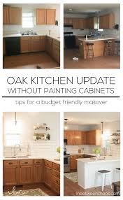 updating oak cabinets in kitchen updating a 90s kitchen without painting cabinets