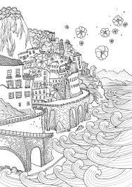 coloring europe bella italia waves color coloring pages
