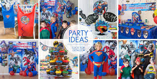 Superman Decoration Ideas by Justice League Party Supplies Superhero Birthday Party Party City