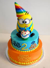 2 year birthday 2 year birthday cake despicableme minions boy s birthday