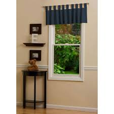 solid navy window valance tab top carousel designs