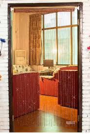 shiny tassel flash silver line string curtain window door divider