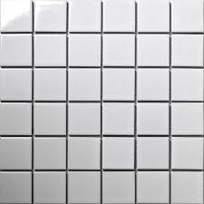 Tile Decals For Kitchen Backsplash by Aliexpress Com Buy 48 48 White Square Ceramic Mosaic Tile