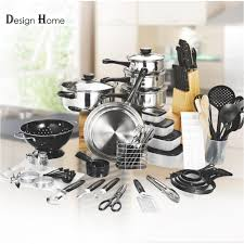 design home 80 piece top fashion real kitchen cookware cooking