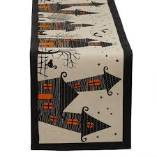 Halloween Material Fabric Decoration Inspiring Halloween Fabric Table Runner Features
