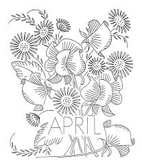 Flower Of The Month Vintage Flower Of The Month Transfers U2013 Q Is For Quilter