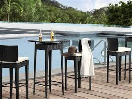 Outdoor Bar Stools Cheap Dining Room Impressive Rustico Wicker Outdoor Pub Table With Bar