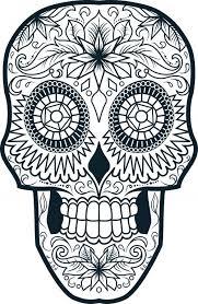 printable sugar skull coloring pages