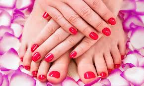 manicure and pedicure she does nails amazin blue salon groupon