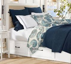 Upholstered Headboard Storage Bed by Montgomery Upholstered Headboard Pottery Barn