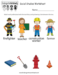 this social studies worksheet allows kids to figure out the tools