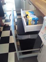 kitchen cabinet recycle bins ideas of out of sight and out of mind trash and recycling bins are