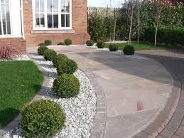 Garden Driveway Ideas Low Maintenance Landscape And Well Draining Driveway Border